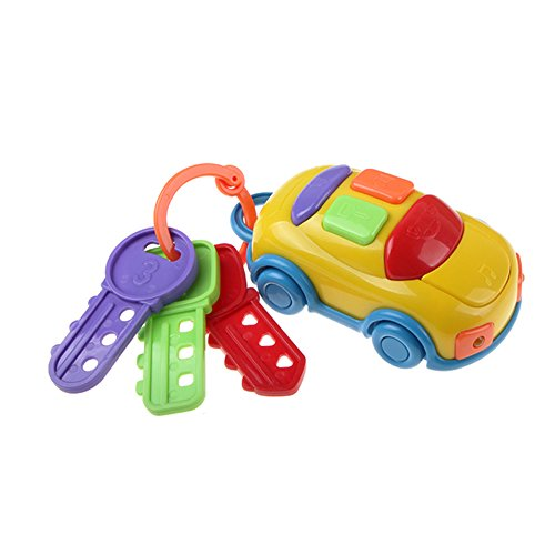 UTOPP Musical Car Keys Car Alarm Real Car Sounds with Two Head Lights Baby Kids Educational Toys (Kids Car Keys)