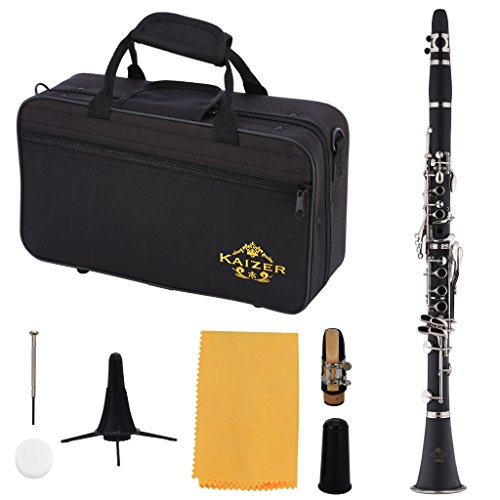 Kaizer Clarinet B Flat Bb Ebony Black CLE-1000EB by Kaizer