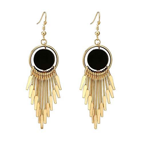 - Women Long Tassel Earrings Wild Simple Temperament Retro Geometric Earrings