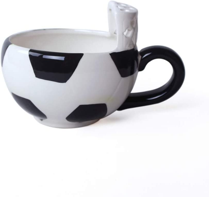 Ccmup 10 X 15 Cm Cute Creative Coffee Mug Basketball Football Pattern Ice Cream Tea Coffee Mugs With Hand Grip 1pc Brown White Football Amazon Co Uk Kitchen Home