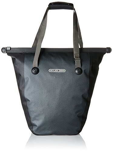 Ortlieb Bike Shopper Pannier: Each, QL2 Hardware, Slate/Black (Pannier Shopper)