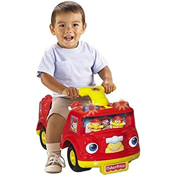 Amazon.com: Fisher Price Fire Truck Ride On: Toys & Games