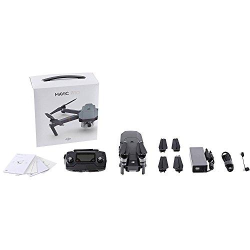 DJI-Mavic-Pro-Collapsible-Quadcopter-Drone-Ultimate-Travel-Bundle-Includes-Manufacturers-Accessories-PLUS-2-Intelligent-Flight-Batteries-More