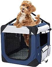 Pet Carrier Bag Dog Puppy Spacious Outdoor Travel Hand Portable Crate M M(60cm x 42cm x 42cm) M(60cm x 42cm x 42cm)