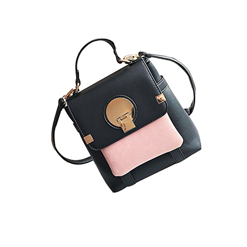 iSunday Womens Soft Leather Backpack Large Capacity Travel Leisure Backpack Silver