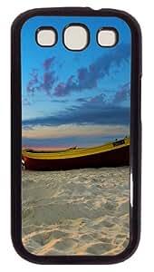 Samsung Galaxy S3 Case Beach boat PC Hard Plastic Case for Samsung Galaxy S3 / SIII / I9300 - Polycarbonate - Black