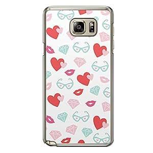 Loud Universe Samsung Galaxy Note 5 Love Valentine Printing Files A Valentine 43 Printed Transparent Edge Case - Multi Color