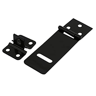 uxcell Door Cabinet Clasp Gate Lock Padlock Latch Hasp Staple 100mm Length