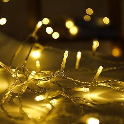Twinkle Star 33FT Indoor String Lights, Plug in String Lights 8 Modes Waterproof for Indoor Outdoor Wedding Home Bedroom