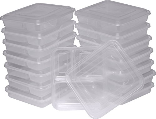 Compartment Microwaveable Dishwasher Container Reusable