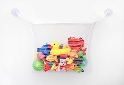Bath Toy Organizer - Includes 2 Free Bonus Strong Hooked
