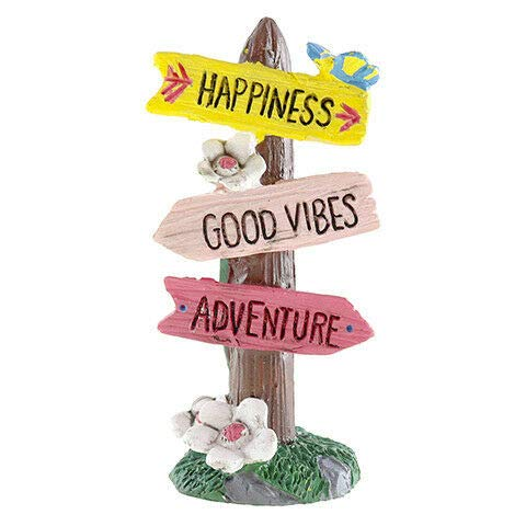 ShopForAllYou Figurines and Statues Miniature Dollhouse Fairy Garden - Happiness Sign - Accessories (Dog Funny Figurines)
