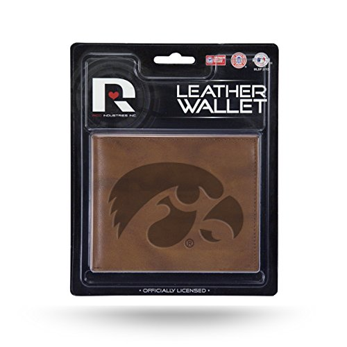 Rico NCAA Iowa Hawkeyes Embossed Leather Billfold Wallet with Man Made - Iowa Mens Hawkeyes Leather