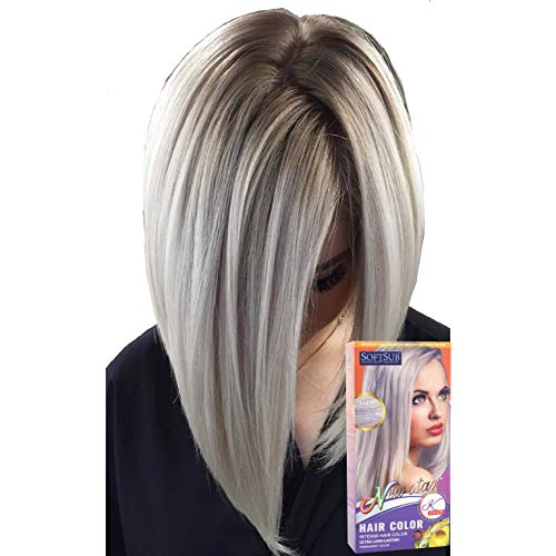 SoftSub Permanent Hair Color Cream Ash Blonde White 140 ml, Revolutionary Hair color cream,Permanent hair color, Hair dye, Highlights