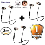 Shaarq (Pack of 3) Magnetic Bluetooth Attractive Headphone with Noise Isolation and Hands-Free Mic and Buttons with Magnetic Earbuds Secure Fit