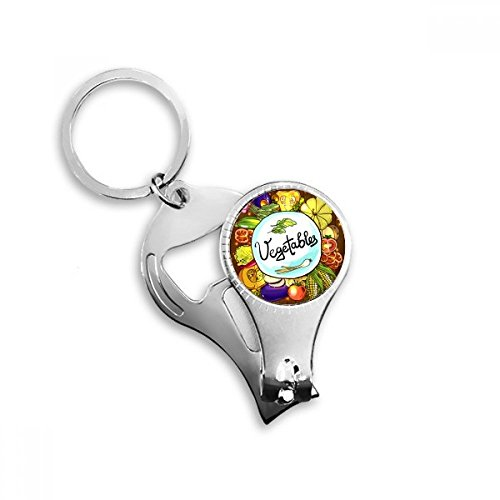 Vegetables Corn Redish Chinese cabbage Nail Clipper Key Chain Ring Cutter Tool Bottle Opener