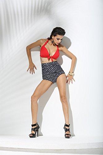 2017 europäischen und amerikanischen Original einzelnen Trade Druck gespaltene Persönlichkeit Schädel Bikini-Badebekleidung Miss Gao Yao
