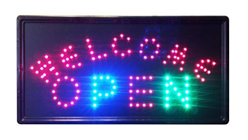 Chain CONSTRUCTOR 10x19 Animated LED Neon Light Open06 Sign 2 On//off Switches