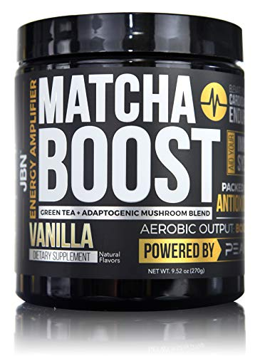 Matcha Boost by JBN – Matcha Green Tea helps – detoxify the body – boost metabolism – lower cholesterol – with PEAK O2 – elevATP – Cluster Dextrin – L-Glutamine – Made in USA – 30 servings