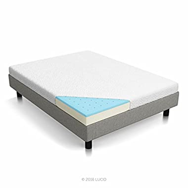 Lucid 5  Gel Memory Foam Dual-Layered Mattress, Queen