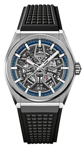 Zenith Defy Classic Blue Titanium Skeletonised Movement Watch 95.9000.670/78.R782