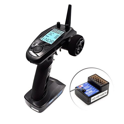 Flysky FS-GT5 6CH AFHDS RC Transmitter w/ FS-BS6 Receiver for RC Car Boat ()