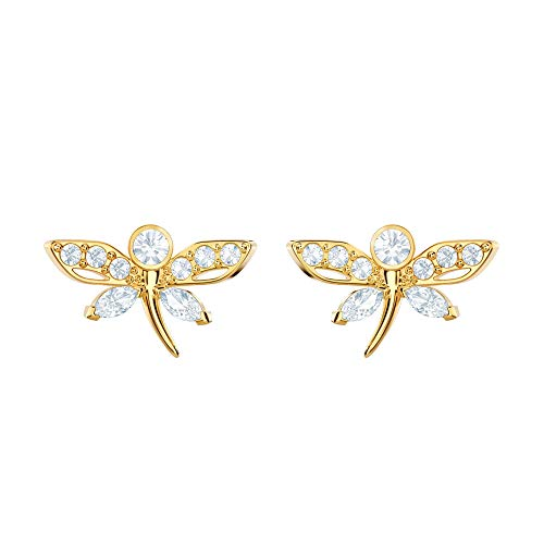 - Swarovski Crystal Magnetic Dragonfly Stud Earrings