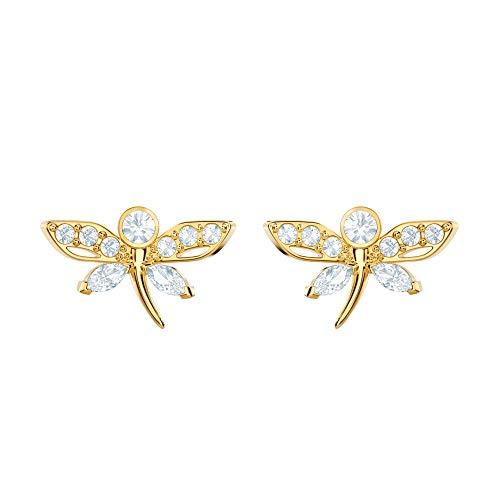 Swarovski Crystal Magnetic Dragonfly Stud Earrings