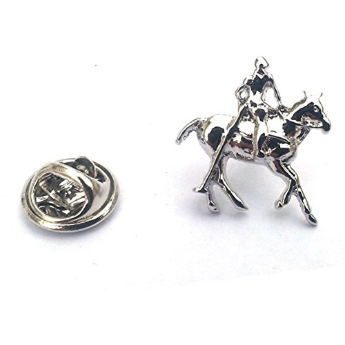 Equestrian Horse Pin - Polo Horse & Rider, Equestrian Lapel Pin Badge