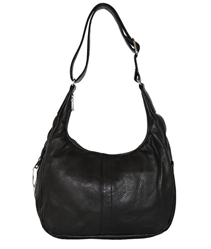 Coronado - Concealed Carry Purse - American Hobo - Locking YKK Zipper (Black) by Coronado