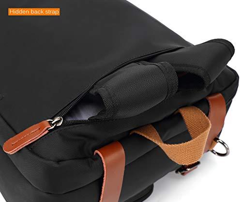 CoolBELL Convertible Backpack Messenger Bag Shoulder Bag Laptop Case Handbag Business Briefcase Multi-Functional Travel Rucksack Fits 15.6 Inch Laptop for Men/Women (Grey) by CoolBELL (Image #6)