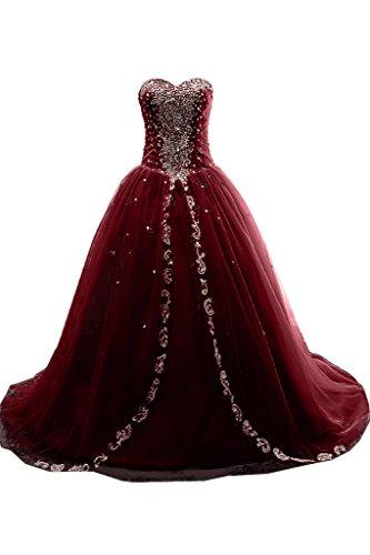 Missdressy - Robe - Sans bretelle - Femme -  rouge - 50