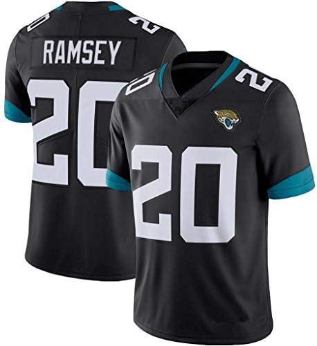 LAMBO Maglia NFL Jacksonville Jaguars # 7 Foles # 15 Minshew II # 20 Ramsey # 27 Fourntte Maglia da Calcio NFL Ricamata Manica Corta Sport T-Shirt
