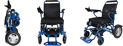 Amazon.com: Electra 7 - Silla de ruedas plegable, color azul ...
