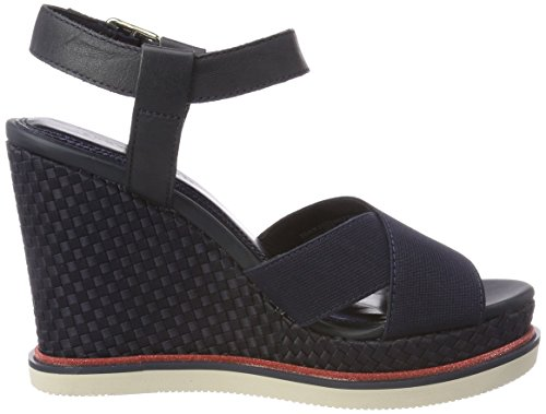 Femme Stretch Wedge 403 Tommy Sporty Midnight Bleu Espadrilles Hilfiger Corporate qvFBfY