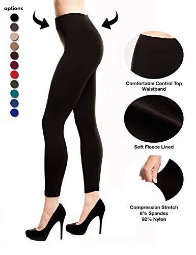 908cdded8af20 Fleece Lined Leggings Women, Click ON 2 Pack Black Image for $12.99 Deal,  Seamless