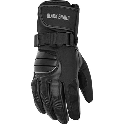 Black Brand Crossover Winter On-Road Motorcycle Gloves - Black/Large (Best Winter Glove Brands)