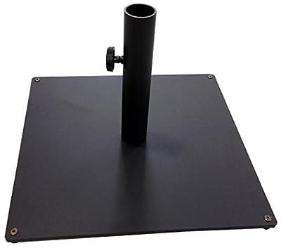 Tropishade Steel Plate Umbrella Base, 36 lbs, Black