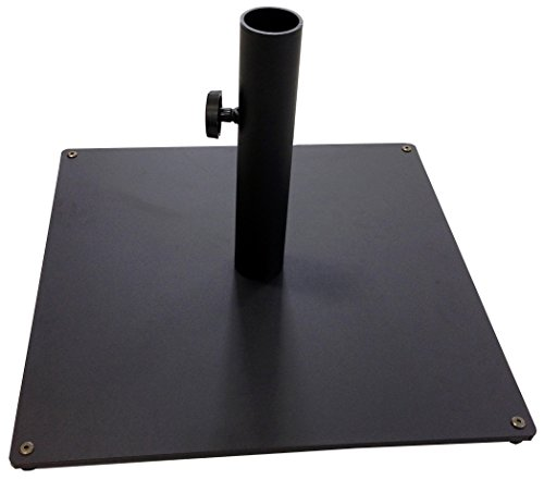Tropishade Steel Plate Umbrella Base, 36 lbs, Black (Base 150 Umbrella Lb)