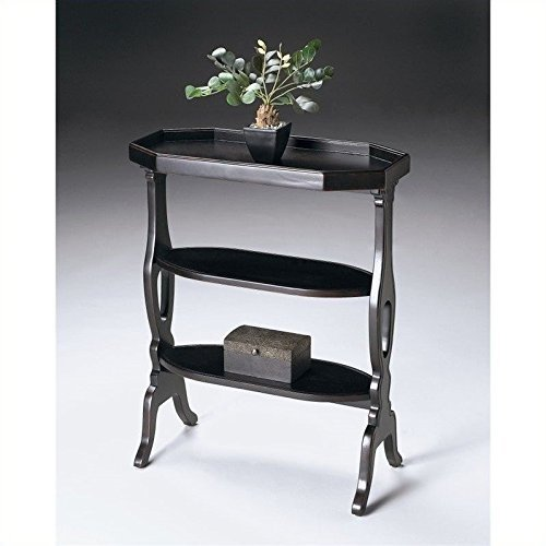 Accent Table w 3 Display Shelves in Plum Black by Butler Specialty