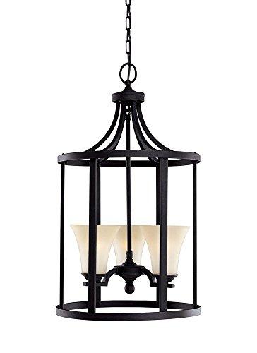 Sea Gull Lighting 51375EN3-839 Somerton Pendant, 3-Light LED 28.5 Total Watts, Blacksmith