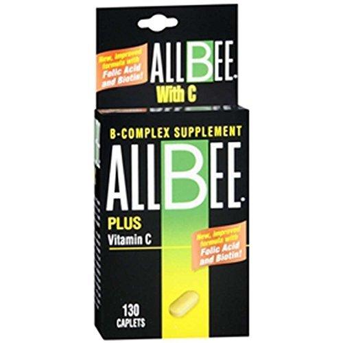 Allbee B-Complex With Vitamin C Caplets - 130 Caplets (B-complex Caplet Vitamins)