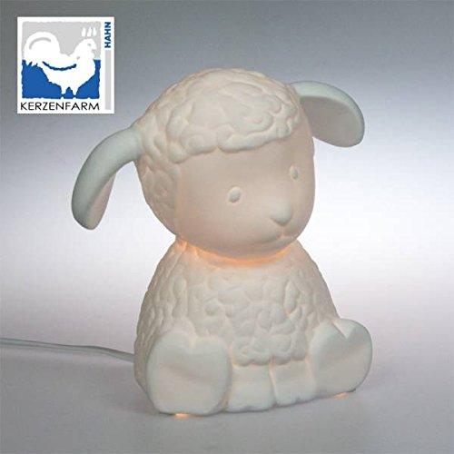 Plaristo Porzellanlampe, Keramik, Weiß Kerzenfarm 30338