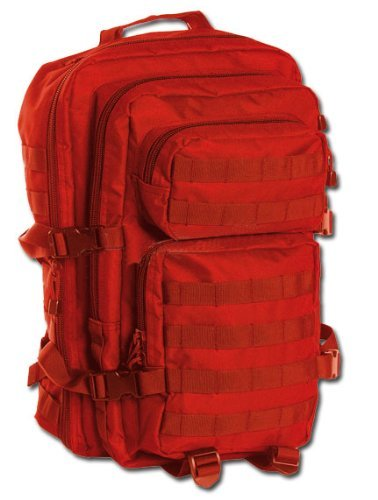 Mil-Tec Military Army Patrol Molle Assault Pack Tactical Combat Rucksack Backpack Bag 36L Signals Red