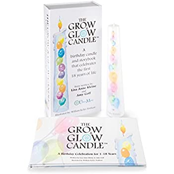 Grow Glow Birthday Candle 1 18 Years With Keepsake Book And Box