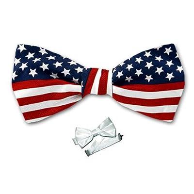 B-PBT-FLAG - USA Flag Boys Pre- Tied Bow Tie