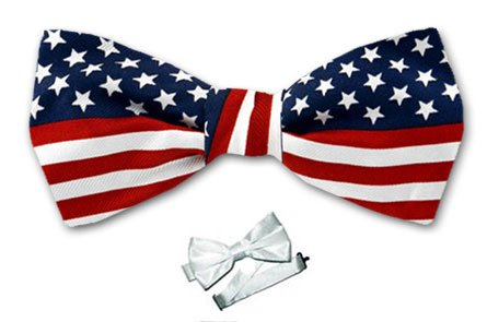 B-PBT-FLAG - USA Flag Boys Pre- Tied Bow Tie by Buy Your Ties