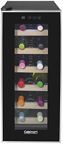 (Cuisinart CWC-1200TS 12-bottle Private Reserve Wine Cellar, Black )