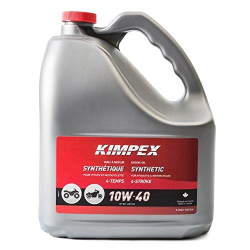 Atv 4 Stroke Engine Oil - Kimpex 10W40 Moto/ATV 4-STROKES Engine Oil 3.78 L 260621