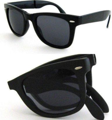 unisex) NUEVAS gafas de sol Wayfarer negras y plegables con ...